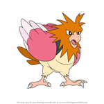 How to Draw Spearow from Pokemon