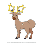 How to Draw Stantler from Pokemon