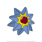 How to Draw Starmie from Pokemon