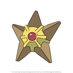 How to Draw Staryu from Pokemon