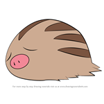 How to Draw Swinub from Pokemon