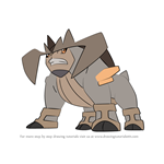 How to Draw Terrakion from Pokemon