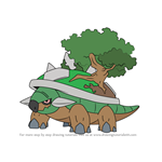How to Draw Torterra from Pokemon