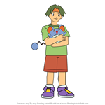 How to Draw Tracey Sketchit from Pokemon