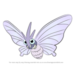 How to Draw Venomoth from Pokemon