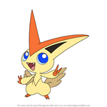 How to Draw Victini from Pokemon