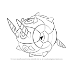 How to Draw Whirlipede from Pokemon