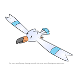How to Draw Wingull from Pokemon