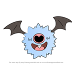 How to Draw Woobat from Pokemon