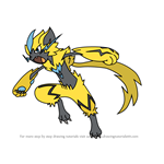 How to Draw Zeraora from Pokemon