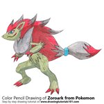 How to Draw Zoroark from Pokemon