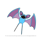 How to Draw Zubat from Pokemon