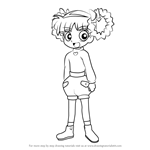 How to Draw Kuriko Akatsutsumi from Powerpuff Girls Z