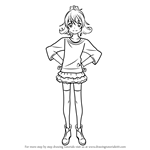 How to Draw Aida Mana from Pretty Cure