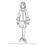 How to Draw Akimoto Komachi from Pretty Cure