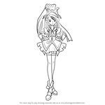 How to Draw Cure Aqua from Pretty Cure