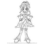 How to Draw Cure Bright from Pretty Cure