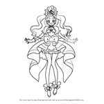 How to Draw Cure Flora from Pretty Cure