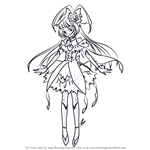 How to Draw Cure Magical from Pretty Cure