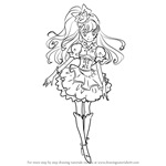 How to Draw Cure Miracle from Pretty Cure