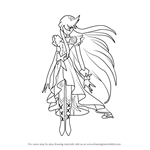 How to Draw Cure Moonlight from Pretty Cure