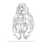 How to Draw Cure Muse from Pretty Cure