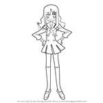 How to Draw Kurumi Erika from Pretty Cure