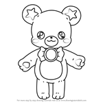 How to Draw Mofurun from Pretty Cure