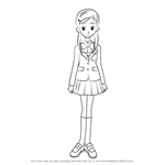 How to Draw Yukishiro Honoka from Pretty Cure
