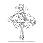 How to Draw Laala Manaka from PriPara