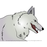 How to Draw Moro from Princess Mononoke