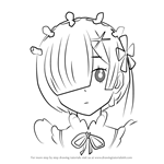 How to Draw Rem from Re Zero