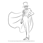 How to Draw Tuxedo Mask from Sailor Moon