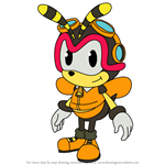 How to Draw Charmy Bee from Sonic X