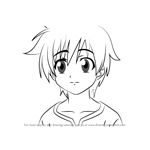 How to Draw Tomozo Sakurai from Sora no Otoshimono