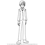 How to Draw Death the Kid from Soul Eater