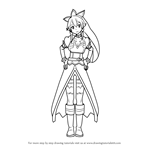 How to Draw Leafa from Sword Art Online