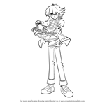 How to Draw Jaden Yuki from Yu-Gi-Oh! GX