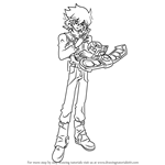 How to Draw Jesse Anderson from Yu-Gi-Oh! GX