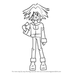 How to Draw Syrus Truesdale from Yu-Gi-Oh! GX
