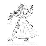 How to Draw Titan from Yu-Gi-Oh! GX