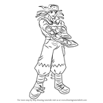 How to Draw Tyranno Hassleberry from Yu-Gi-Oh! GX