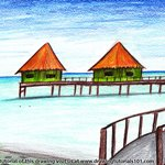 How to Draw Beach Huts