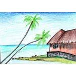 How to Draw a Beach Scenery