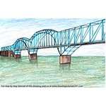 How to Draw Dashengguan Yangtze River Bridge