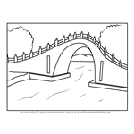 How to Draw Jade Belt Bridge