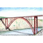 How to Draw Maslenica Bridge