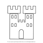 How to Draw a Castle Tower for Kids