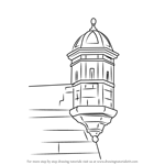 How to Draw a Turret Castle
