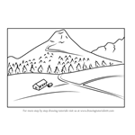 How to Draw Mountain Scenery